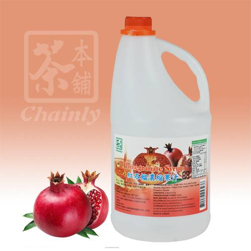 Pomegranate Fruit Flavor Concentrated Syrup