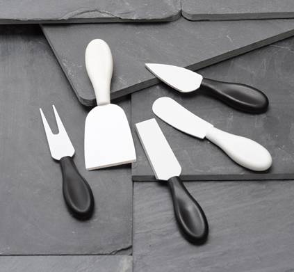 Rinvay 5pcs cheese knives set
