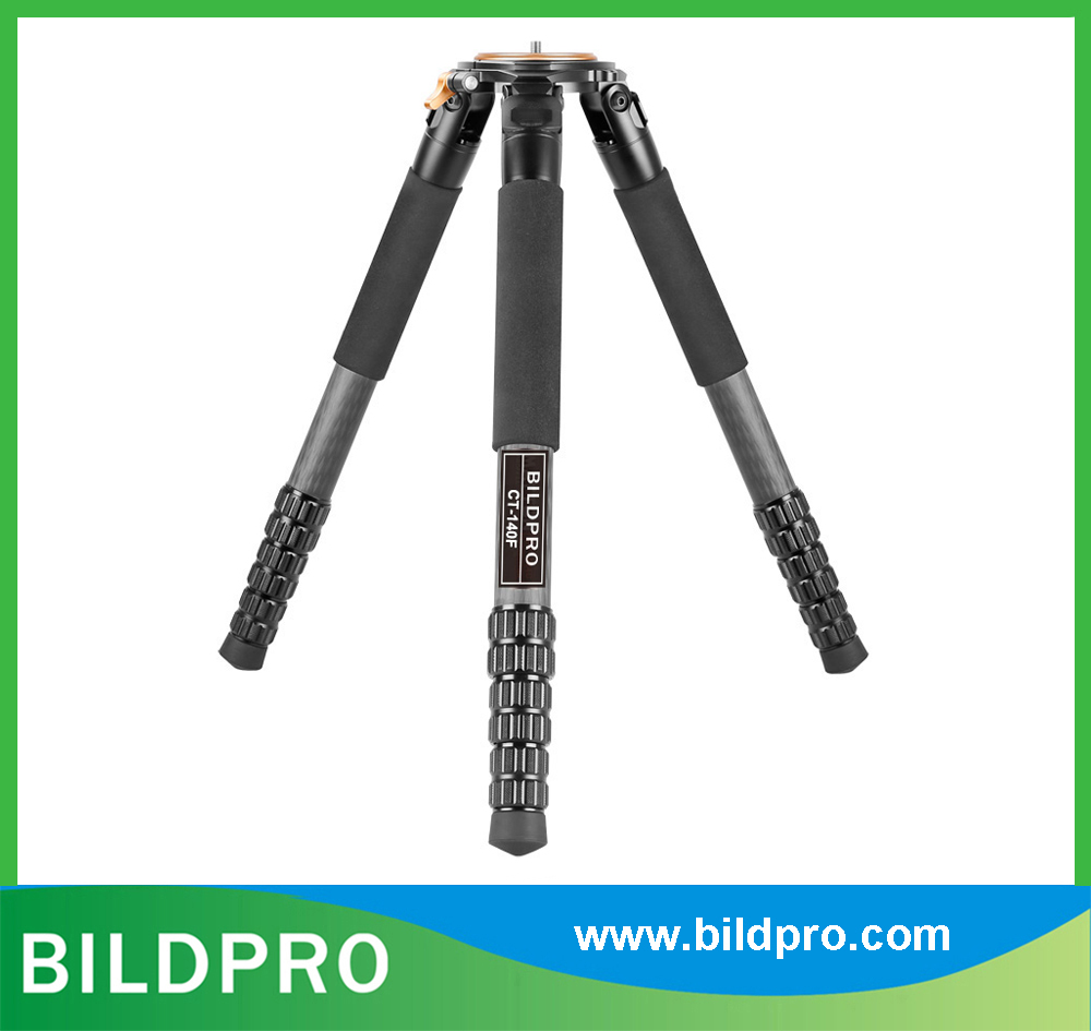 36mm Professional Carbon Fiber Tripod Heavy Duty Telescopic Stand Camcorder Video Tripod