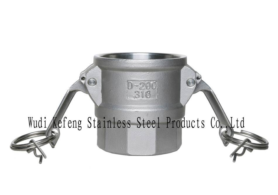 stainless steel camlock coupling/type D