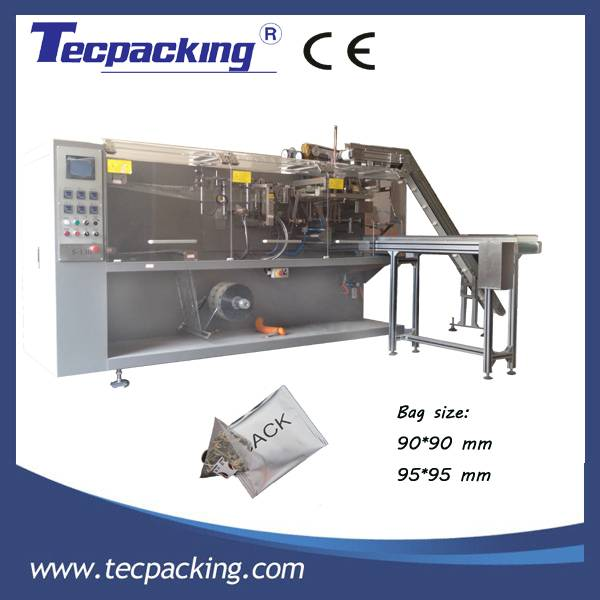 Pyramid tea bag envelop wrapping machine