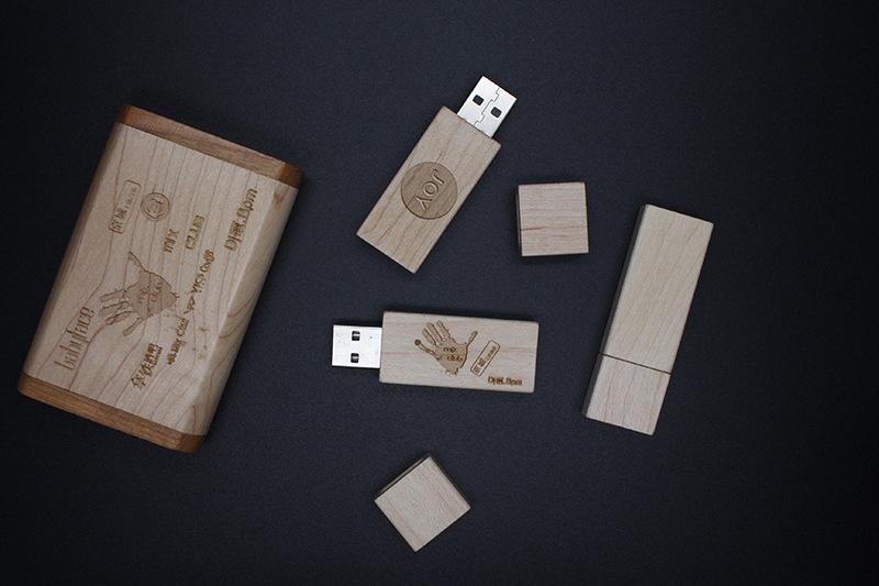 Slim type wood USB flash drives laser engraved logo gifts 8GB branded CaraUSB