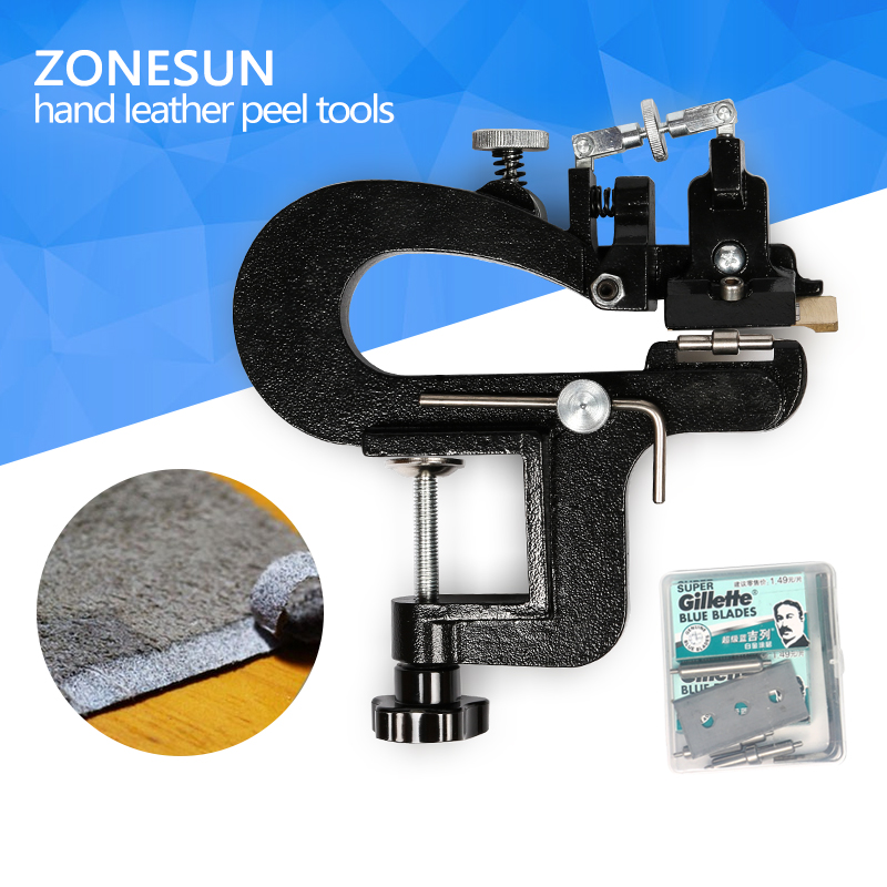 ZONESUN Leather paring device kid max 35mm width, Manual leather skiver, hand leather peel tools