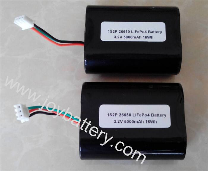 A123 26650 1S2P 3.2V 5000mAh LiFePO4 battery