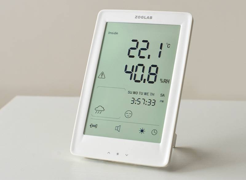 Thermohygrometer with Weather Report Function
