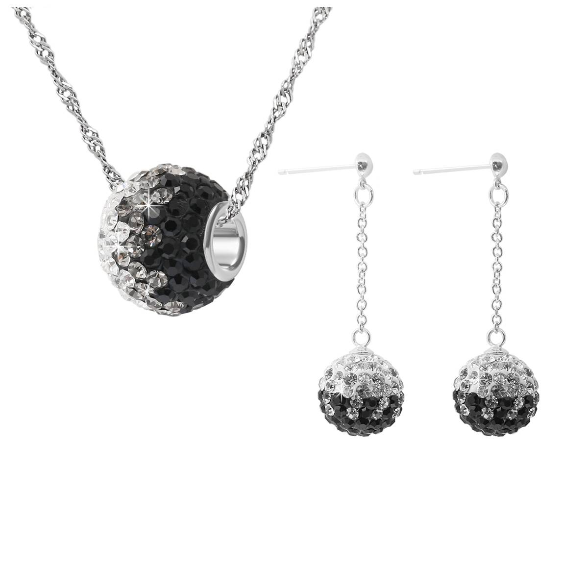 Elegant crystal jewelry set
