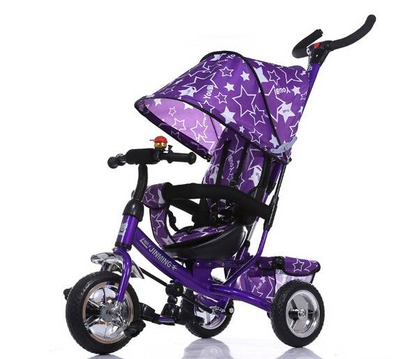 purple color functional tricycle/4 in 1 trike/stroller for sale
