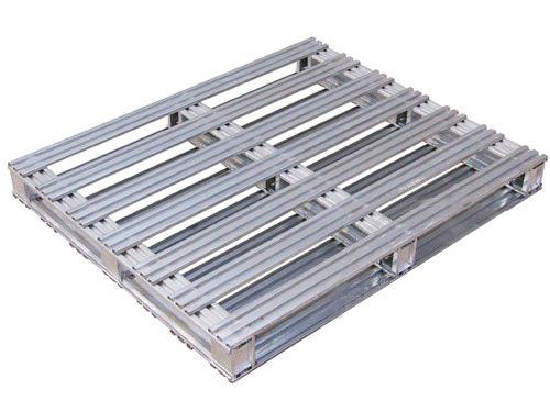Steel transport packing pallet