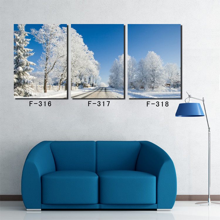 high quality landscape painting snow winter landscape wall art canvas home decoration