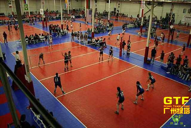 PP Sports Interlocking Flooring for Volleyball