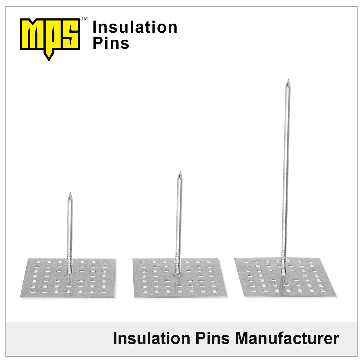 rock wool insulation perforated base insulation pins