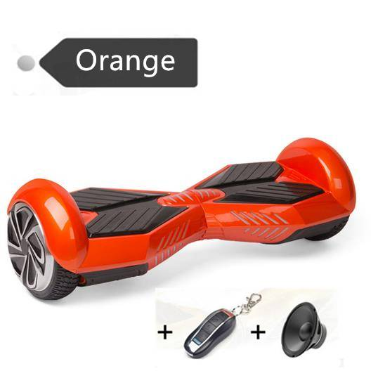8 Inch Electric Scooter Hoverboard + Bluetooth Speaker Flash LED 2 Wheel Electric Standing Scooter E