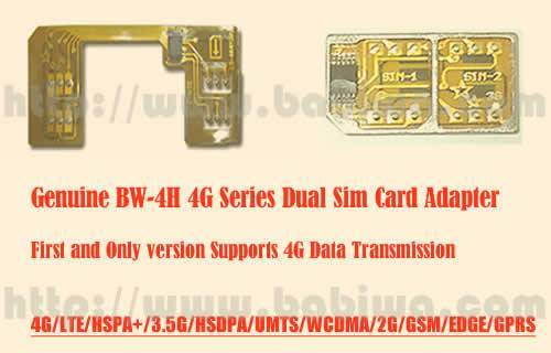 Genuine 4G HSPA+ LTE Dual Sim Card Adapter for Universal Mobile phones