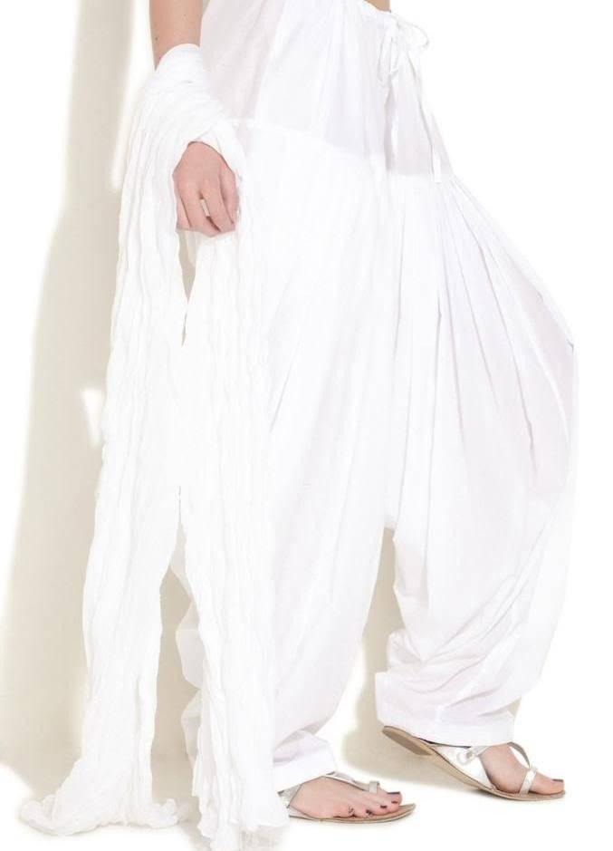 Punjabi Semi Patiyala / Patiala Ladies Salwar for Kameez Kurta Readymade Cotton