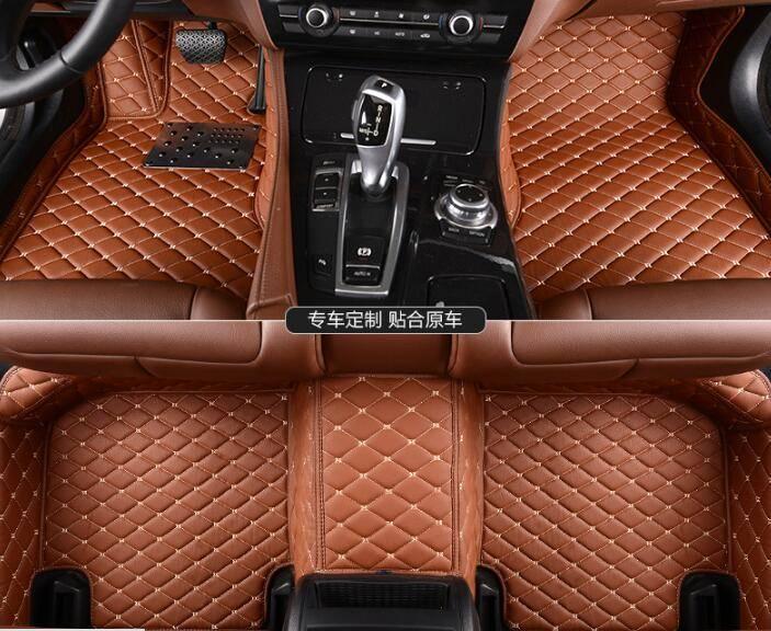 Honda Parts Leather Car Floor Mats 5D Full Surround Waterproof Car Mats