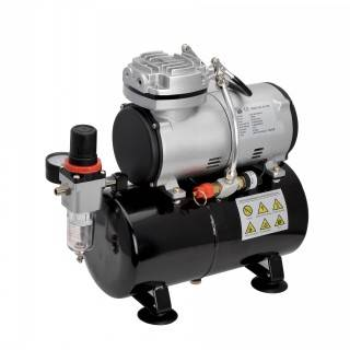 Airbrush compressor with tank AS186