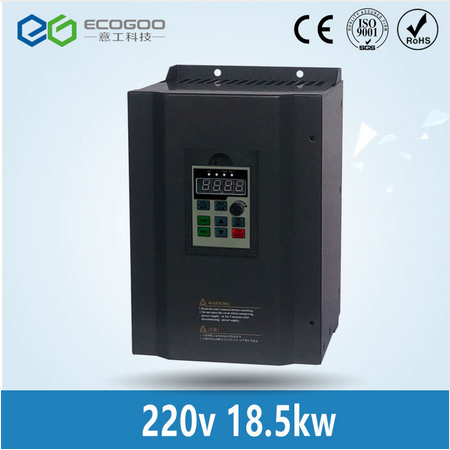 18.5KW 25HP 400HZ VFD Inverter Frequency converter single phase 220v input 3phase 380v output 39A fo