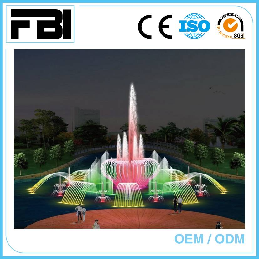 20m round music dancing fountain, lake fountain