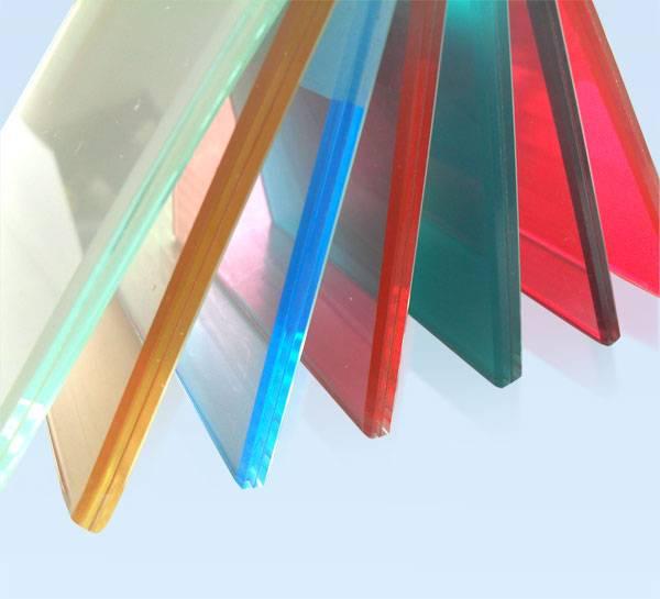 custom color laminated glass