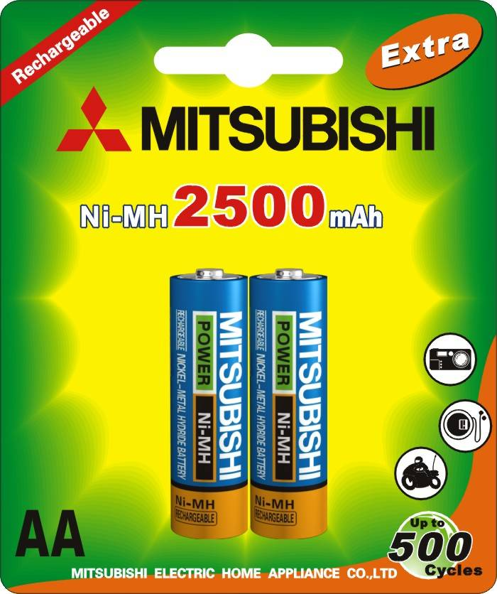 Ni-MH AA2500 Rechargeable Battery