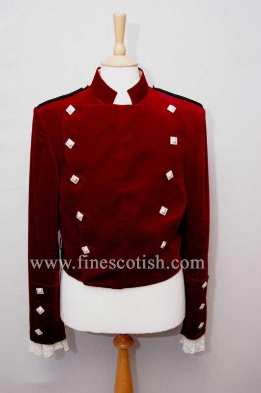 Velvet Montrose Doublet Jacket Red Color