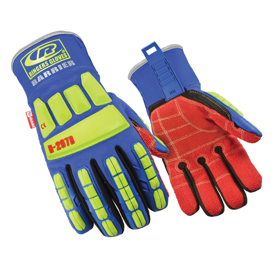 Ringers Gloves Oil and Gas Gloves Impact TPR Gloves Ipwsdx R297b Roughneck Barrier Gloves
