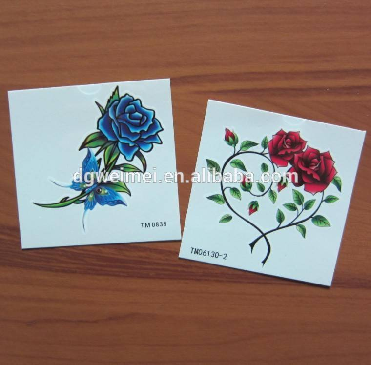 Non-toxicity Fashionable Temporary Rose Tattoo Sticker