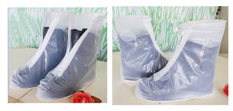 Transparent PVC Rain Shoe Cover Over Boot