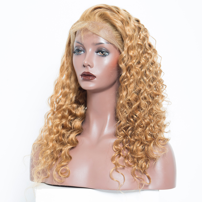 veteran #27 loose curly human hair lace front wigs with baby hair for women