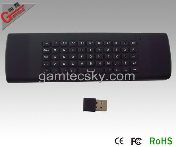 2.4G Remote  Keyboard  Air mouse(Gyro) Control 3in1