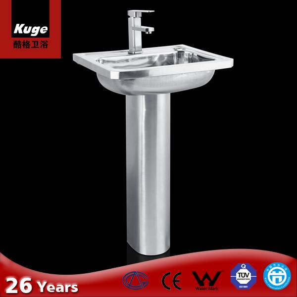 Chuangxing good quality stainless steel bathrom sinks
