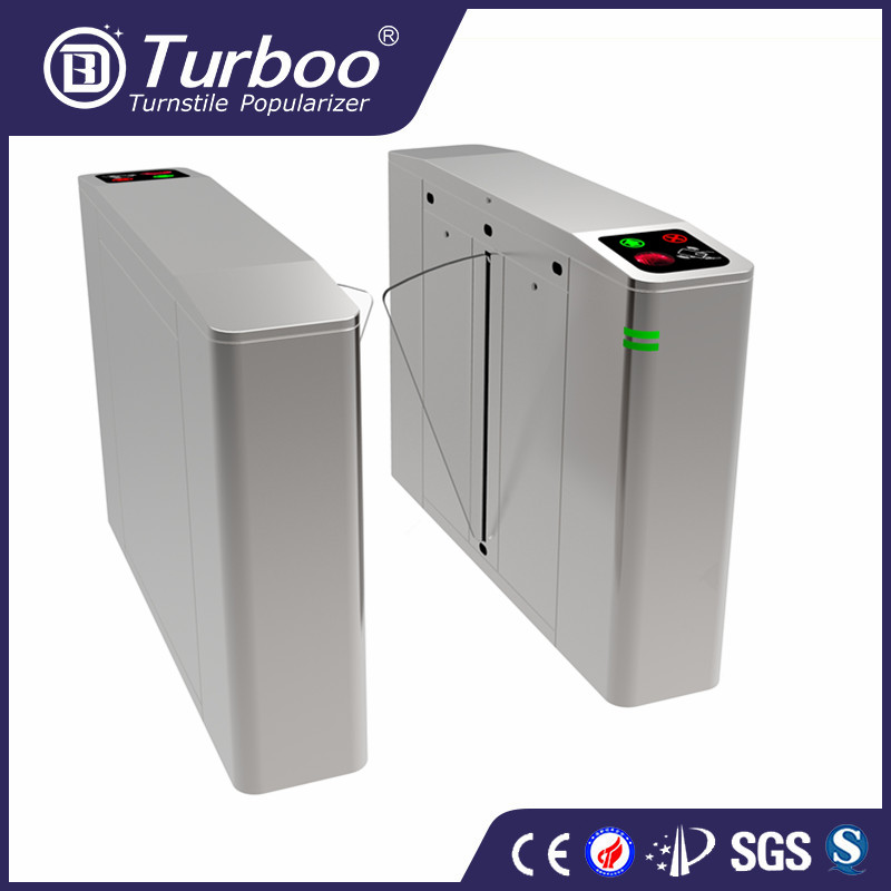 Turboo H249:Rectractable biometric flap barrier gate turnstile from China