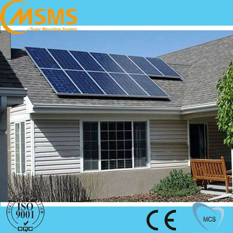 Top selling roof aluminum solar panel,pv solar roof mount,home solar energy system for home use