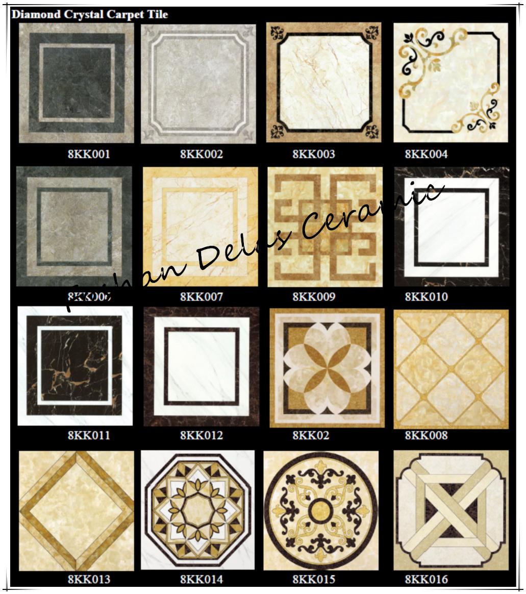 800800 Vintage Style Floor Diamond Crystal Porcelain Carpet Tile