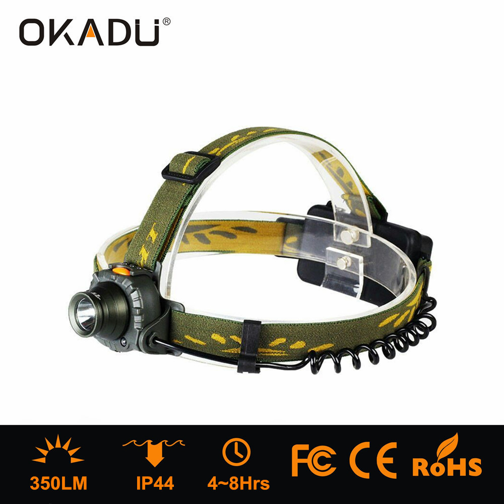 OKADU HQ04 Design Cree Q5 Led Headlight 18650 / AAA Battery Headlamp Motion Sensor Headlamp