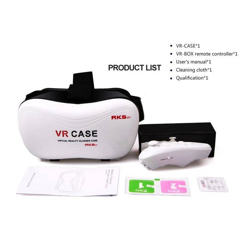 VR 3D glasses VR for 3D film with bluetooth remote