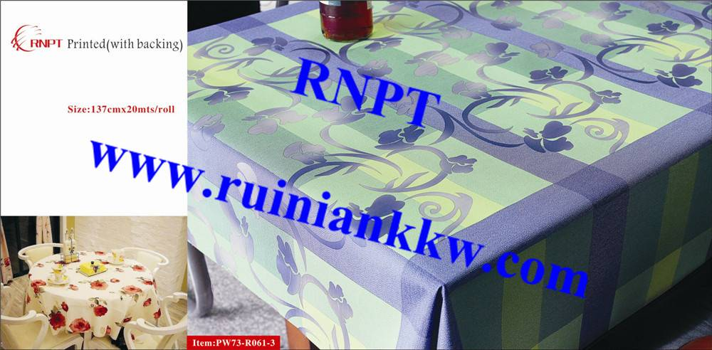Iran hot sales RNPT PW73-R061-3 3D Printed Table Cloth with backing for Israel, Iran, Turkey and Sou