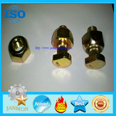 Customized High Strength Yellow Zinc Plated Wheel Bolts and Nut For Tractor and Truck