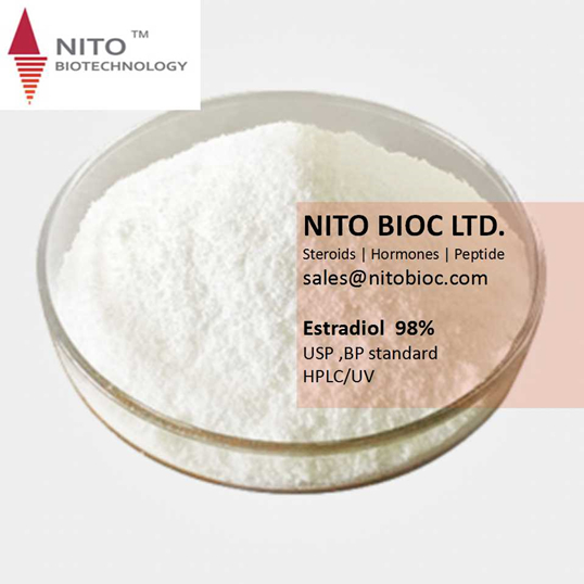 Factory control quality, strong steroid powder: Estradiol with CAS NO:50-28-2