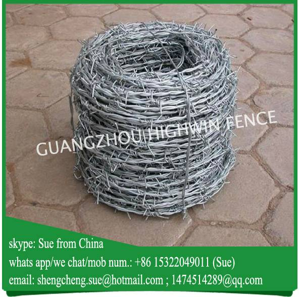 China manufacturer galvanized barbed wire roll price
