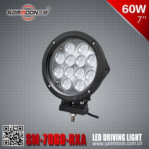 7 Inch 60W Round LED Driving Light