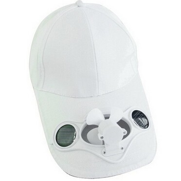 Solar Cap with cooling fan