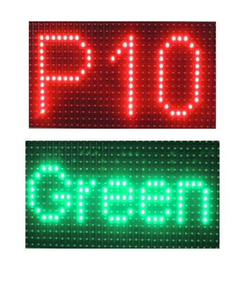 text p10/p12/p12.5/p16/p20 single color led display module(green,red,yellow,white,blue)