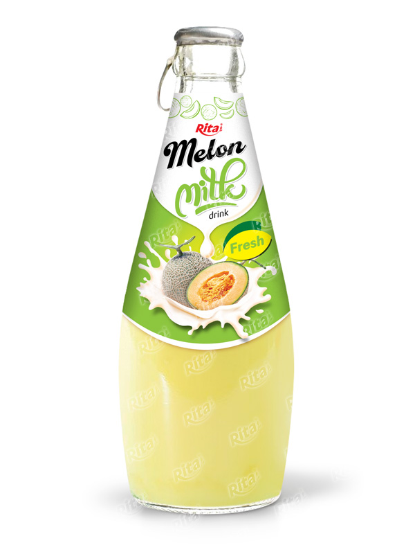 290ml Glass Bottle Natural Melon Milk Drink