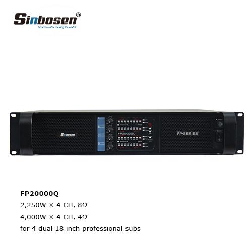 2019 hot sale Sinbosen FP20000Q amplifier for dual best 18 inch subwoofer