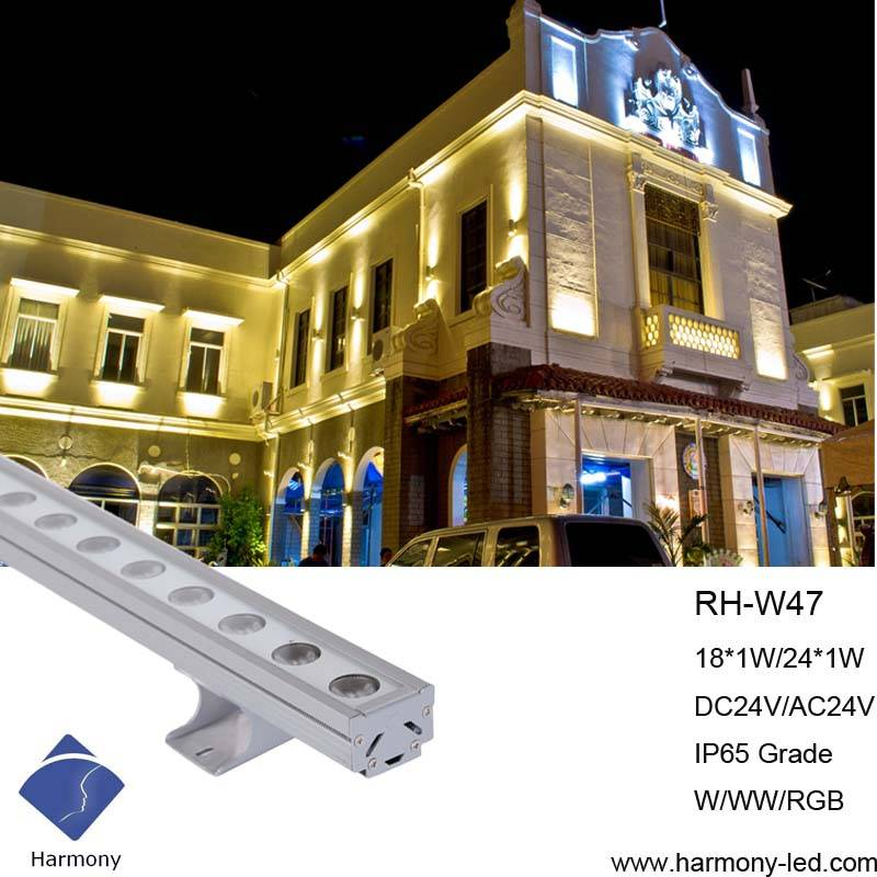 IP65 Good Adaptability Building Decorating 18W Wall Washer Light Bar