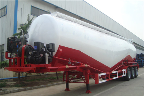 3 Axles 55cbm Cement Tanker Semi-Trailer