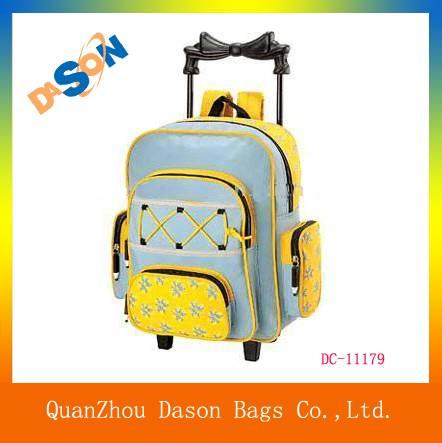 Multi-functional microfiber trolley backpack bag