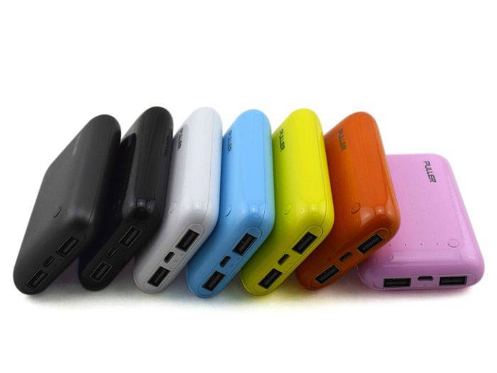 PULLER POWER BANK dual outputs real 6000mAh power bank portable chager on the go