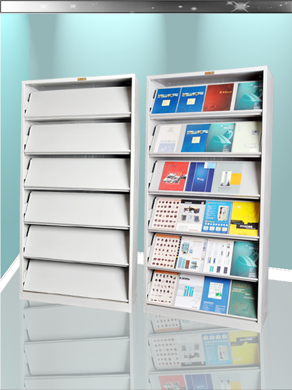 Wholesale Assemble Library Magazine Display Rack